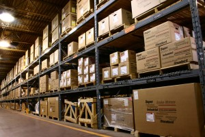 An Industrial Parts Storage Warehouse